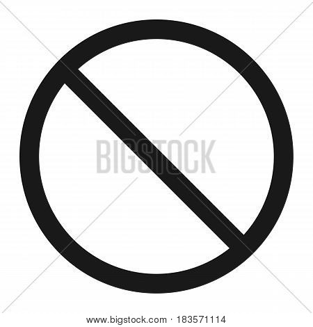 No entry line icon, Traffic and road sign, vector graphics, a solid pattern on a white background, eps 10.