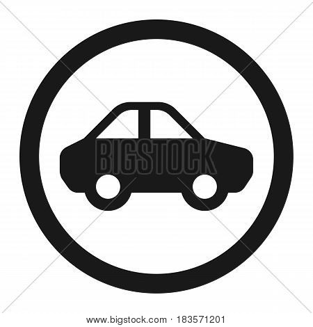 No motor and car line icon, Traffic and road sign, vector graphics, a solid pattern on a white background, eps 10.