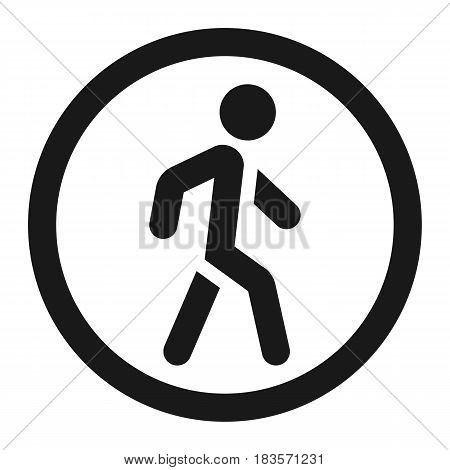 No Pedestrians line icon, Traffic and road sign, vector graphics, a solid pattern on a white background, eps 10.