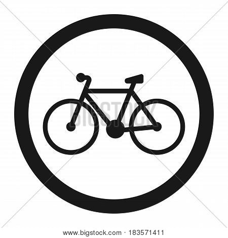 No bicycle, bike prohibited line icon, Traffic and road sign, vector graphics, a solid pattern on a white background, eps 10.