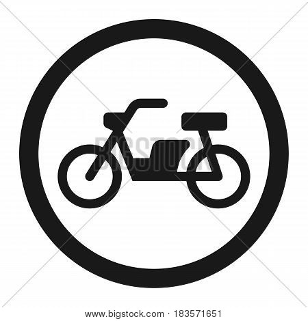 No motorcycle prohibition sign line icon, Traffic and road sign, vector graphics, a solid pattern on a white background, eps 10.