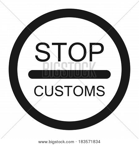 stop customs sign line icon, Traffic and road sign, vector graphics, a solid pattern on a white background, eps 10.