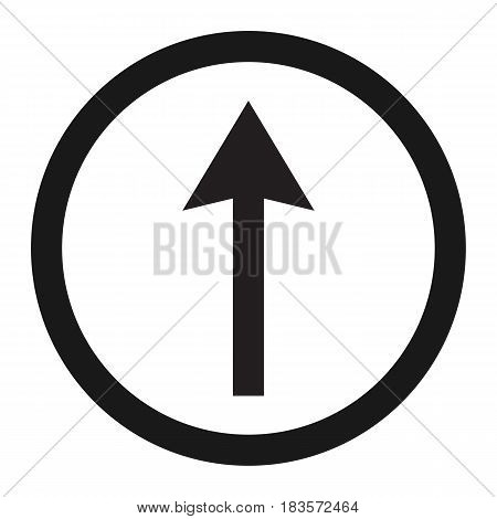 Ahead Only and Drive Straight sign line icon, Traffic and road sign, vector graphics, a solid pattern on a white background, eps 10