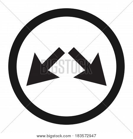 Detour right or left sign line icon, Traffic and road sign, vector graphics, a solid pattern on a white background, eps 10