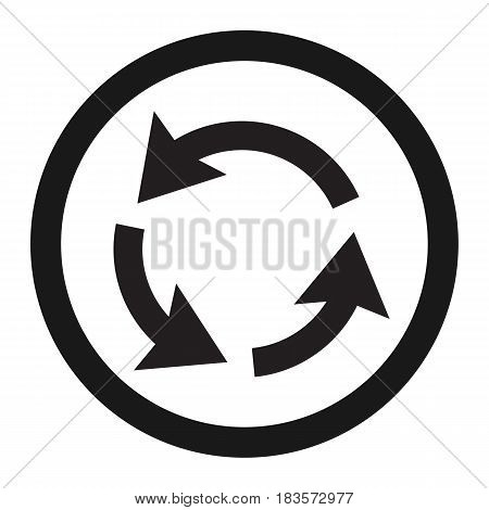 Roundabout Circulation sign line icon, Traffic and road sign, vector graphics, a solid pattern on a white background, eps 10 poster
