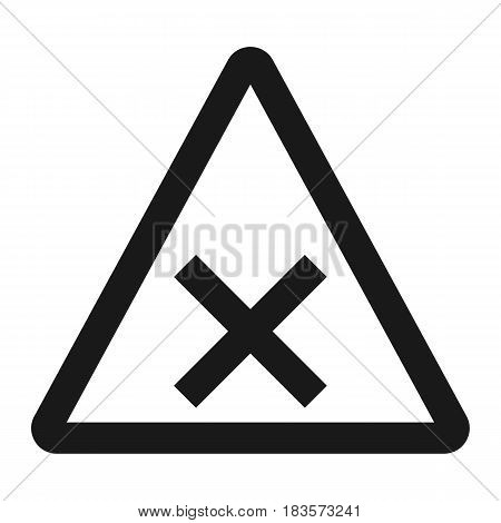 Crossroads sign line icon, Traffic and road sign, vector graphics, a solid pattern on a white background, eps 10