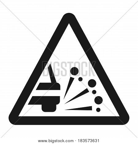 Loose chippings and gravel line icon, Traffic and road sign, vector graphics, a solid pattern on a white background, eps 10