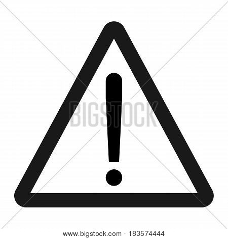 Warning hazard sign line icon, Traffic and road sign, vector graphics, a solid pattern on a white background, eps 10
