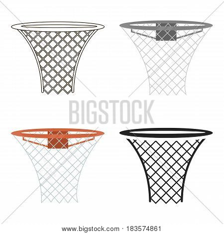 Basketball hoop icon cartoon. Single sport icon from the big fitness, healthy, workout cartoon.