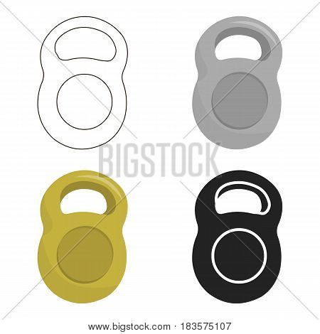 Weight icon cartoon. Single sport icon from the big fitness, healthy, workout cartoon.