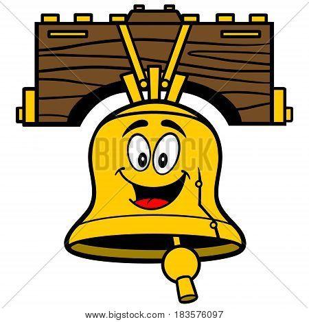 A vector illustration of a Liberty Bell Mascot.