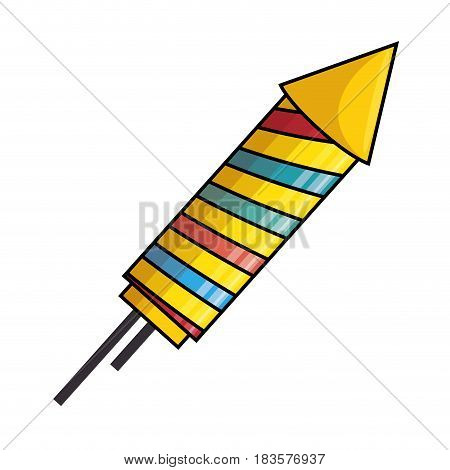 rocket firework celebration icon vector illustration design