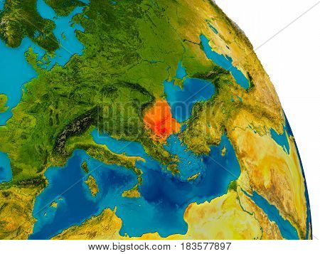 Bulgaria On Model Of Planet Earth