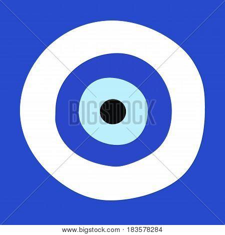 greek evil eye vector - symbol of protection
