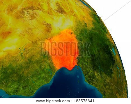 Nigeria On Model Of Planet Earth