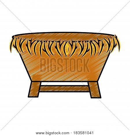 manger Straw cradle icon vector illustration design