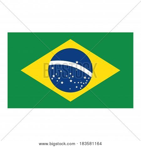brazil flag isolated icon vector illustration design