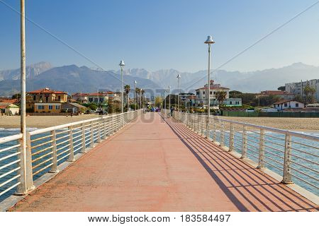 Marina Di Massa Pier View In Versilia