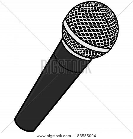 A vector illustration of a singer Microphone,