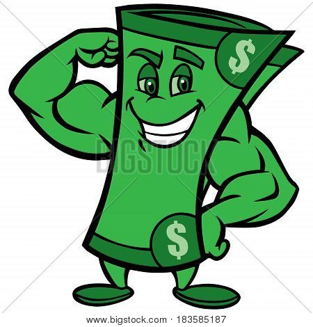 A vector illustration of a strong dollar.
