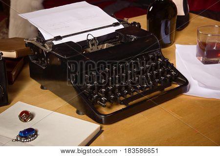Vintage Still Life With Typewriter