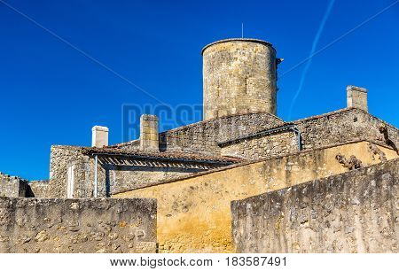 Chateau de Rauzan, a medieval castle in Gironde department of France