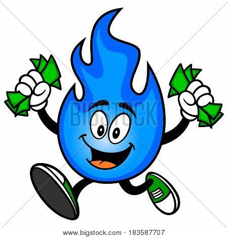 A vector illustration of a Natural Gas Mascot.