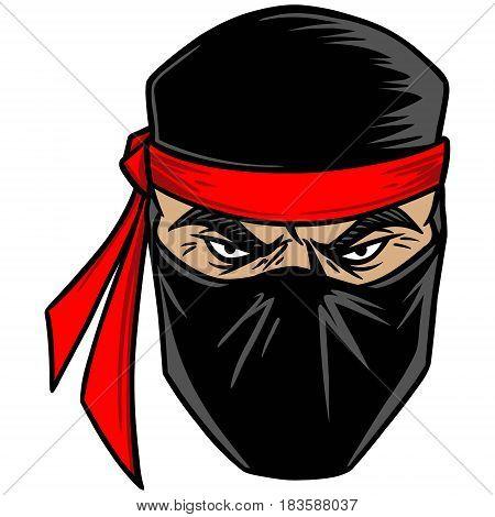 A vector illustration of a Ninja warrior.