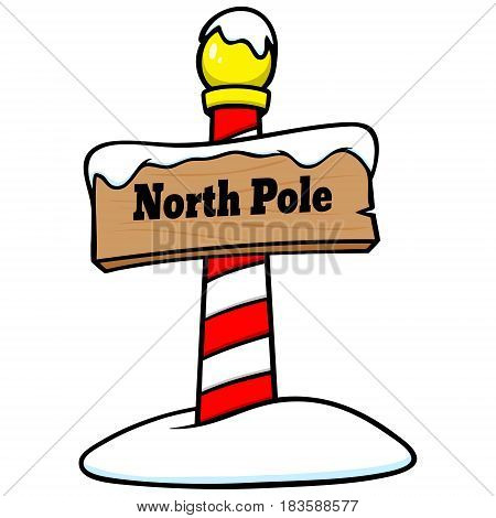 A vector illustration of a North Pole.