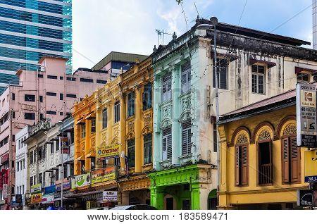 KUALA LUMPUR, MALAYSIA - OCTOBER 26, 2012: Little India in the cosmopolitan city of Kuala Lumpur Malaysia