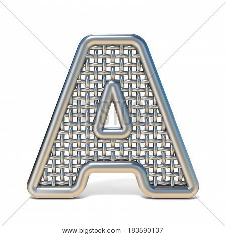 Outlined Metal Wire Mesh Font Letter A 3D