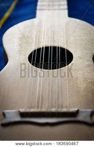 Baroque Guitar. Close-up Detail