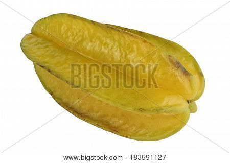 Yellow Carambola On A White Background