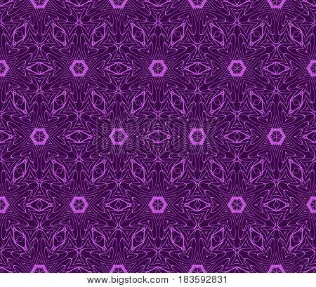 Decorative Geometric Floral Pattern. Seamless Vector Illustration. For Wallpaper, Invitation, Fabric