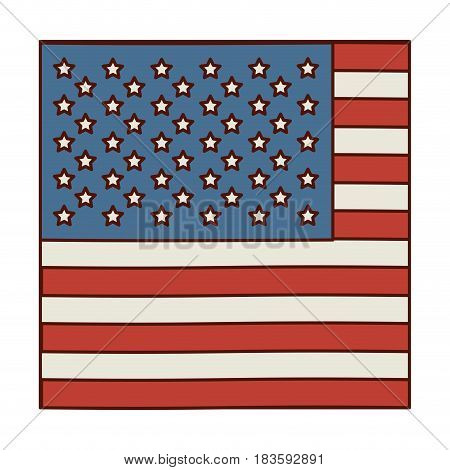 light colours silhouette of flag the united states in closeup vector illustration