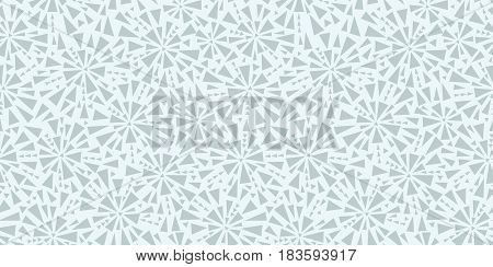 Vector light grey triangles bursts seamless repeat pattern design background texture. Perfect for modern greeting cards, wallpaper, fabric, home decor, wrapping projects. Repeat pattern design.
