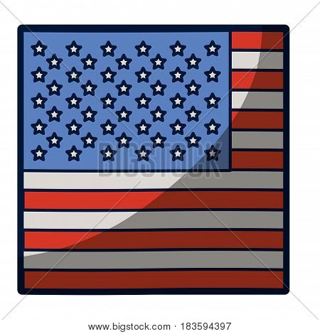 light colours silhouette of flag the united states in closeup with half shadow vector illustration