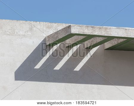 Modernist style balcony covering in Xemxija Malta