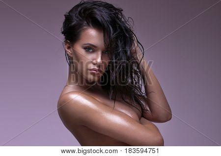 Portrait Of Beautiful Sexy Girl.