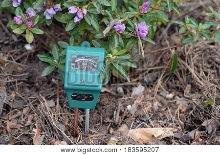 Soil moisture, light and PH meter for small private garden