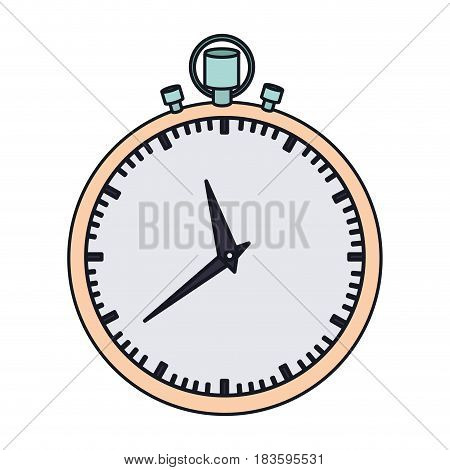 color graphic of simple stopwatch vector illustration
