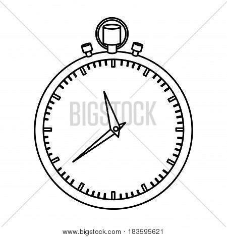 monochrome silhouette of simple stopwatch vector illustration