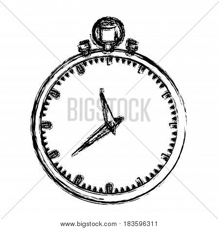 monochrome blurred silhouette of simple stopwatch vector illustration