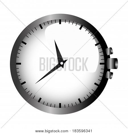 realistic graphic with gray clock without bracelet vector illustration