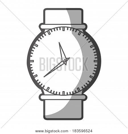 grayscale silhouette of female wristwatch vector illustration