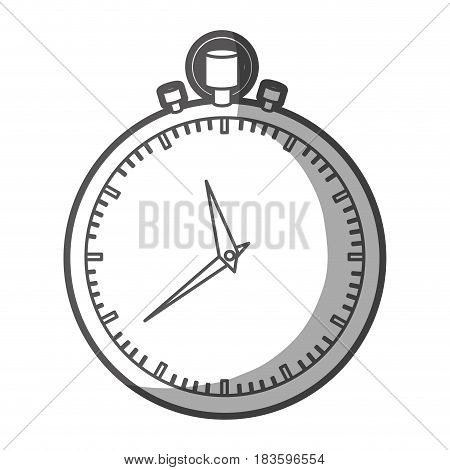 grayscale silhouette of simple stopwatch vector illustration