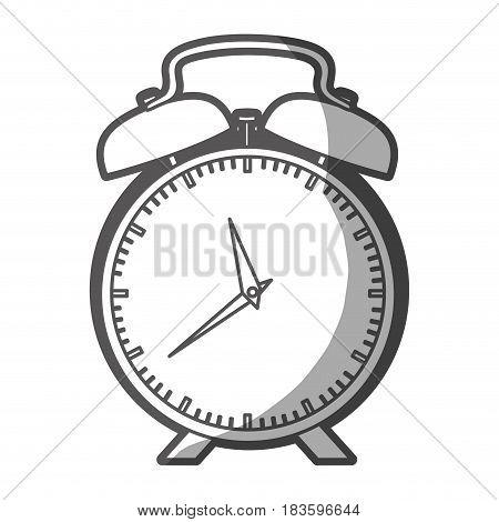 grayscale silhouette of alarm clock vector illustration