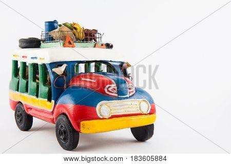 Colorful traditional rural bus from Colombia called chiva