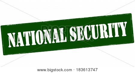 Stamp with text national security inside vector illustration