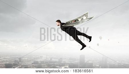Business concept money is freedom